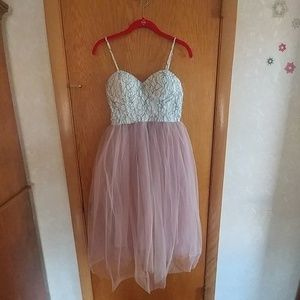 Lace tulle formal dress